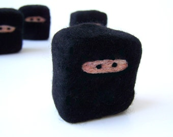 Felted soap Mini Ninja perfect gift for guys
