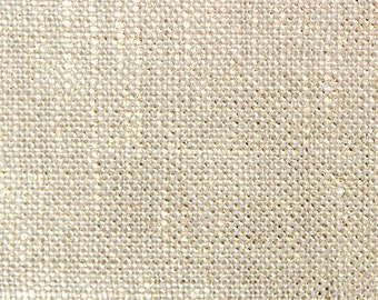 """Remnant - End of the Roll - 22"""" x 53"""" - Metallic Gold Linen Fabric-  Table Top, Drapery, Light Upholstery  Color- Gold Trophy"""
