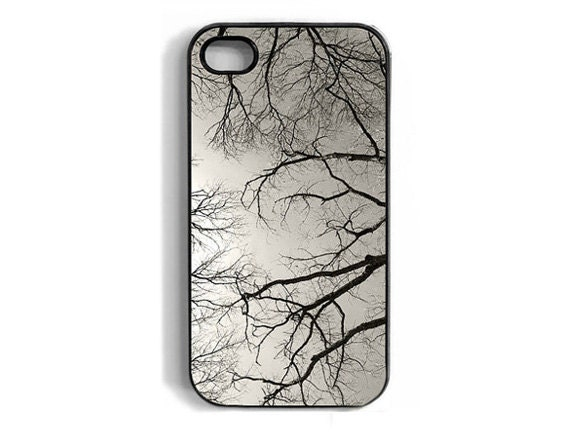 Tree branches iPhone case, cover, iphone 4, 4s, black and white photo, nature, sky, spooky, scaryblack friday