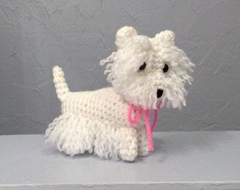 West Highland White Terrier - Amigurumi - Hand Crocheted - Westie Plushie