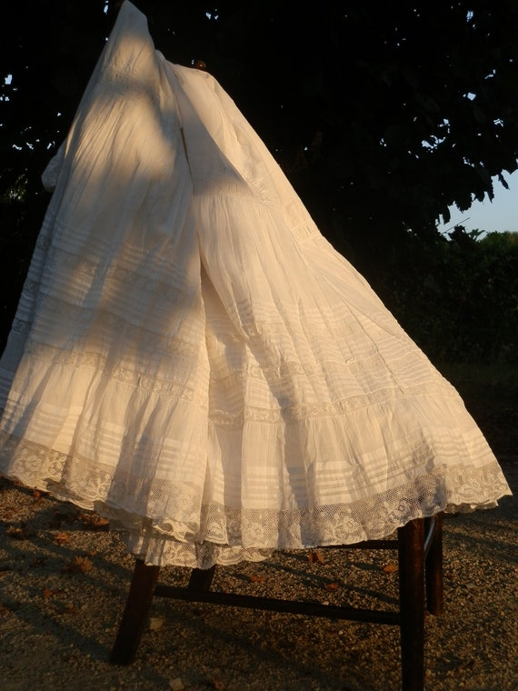 Reserved and Reduced for Karan.  Exquisite French Antique Petticoat Jupon