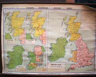 British Isles, Parliamentary Reform 1832 Vintage Wall Map