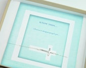 Dainty Sterling Silver Side Cross Bracelet with Gift Card