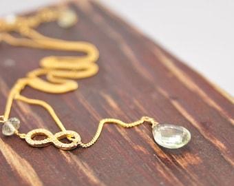 Weddings, Bridal Necklace, Mint Geen Infinity Necklace, Infinity Bridal Necklace