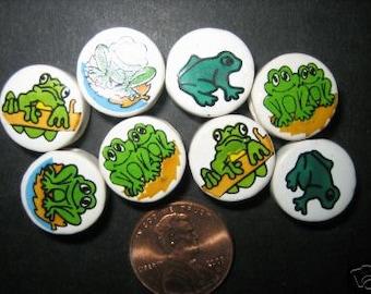 New 30 Ceramic Round Frog  Toads Beads