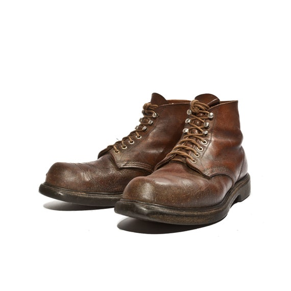 Vintage Red Wing Boots Distressed Men's Lace Up Ankle