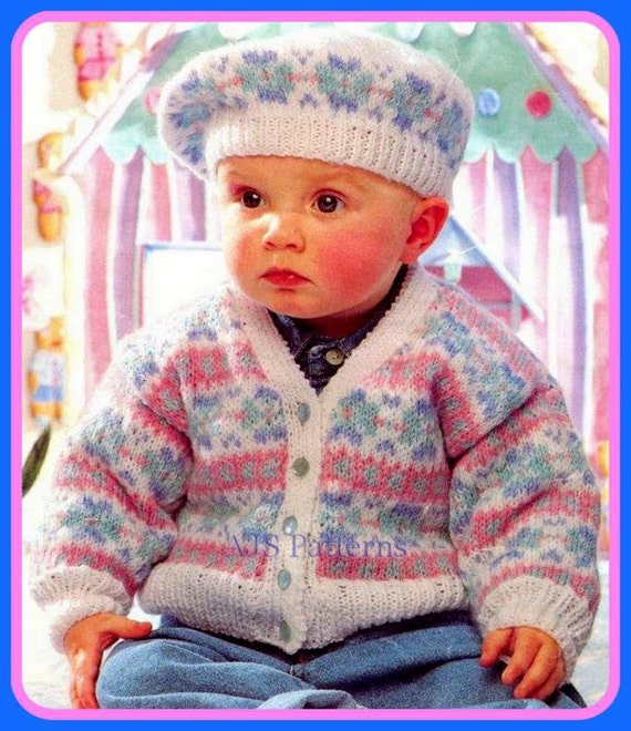 Knitting Pattern Child s Beret : PDF Knitting Pattern for a Baby or Childs Fair by ...