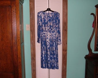 Vintage Evening Dress by Raul Blanco-Size 8-EUC-Mother of the Bride