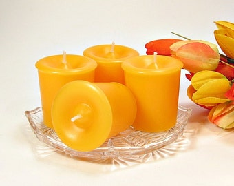 Votive candles Mango and Papaya scent 4 pack