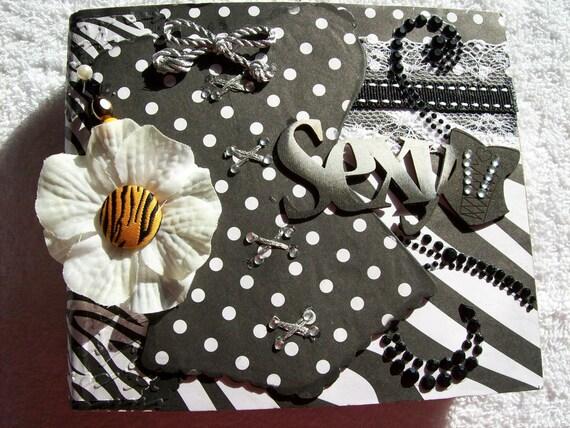 Paper Bag Mini Album Animal Print w/Premade Pages