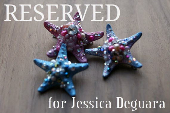 RESERVED for Jessica Deguara: Sleeping Beauty insp. Sparklefish Hairclip Trio