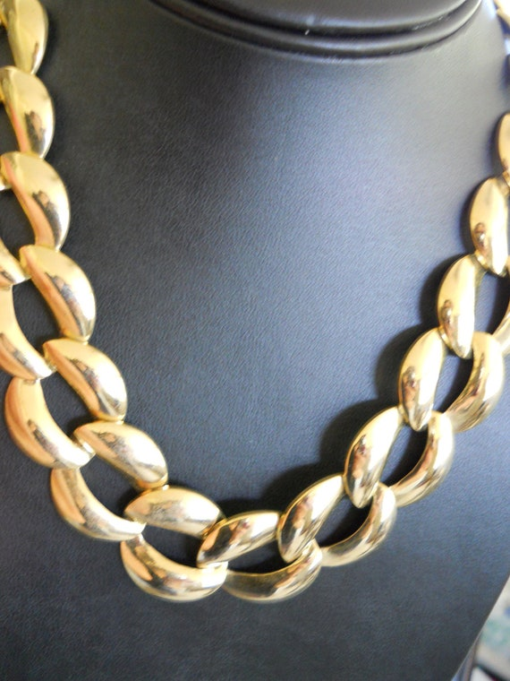 classic gold big chain choker necklace