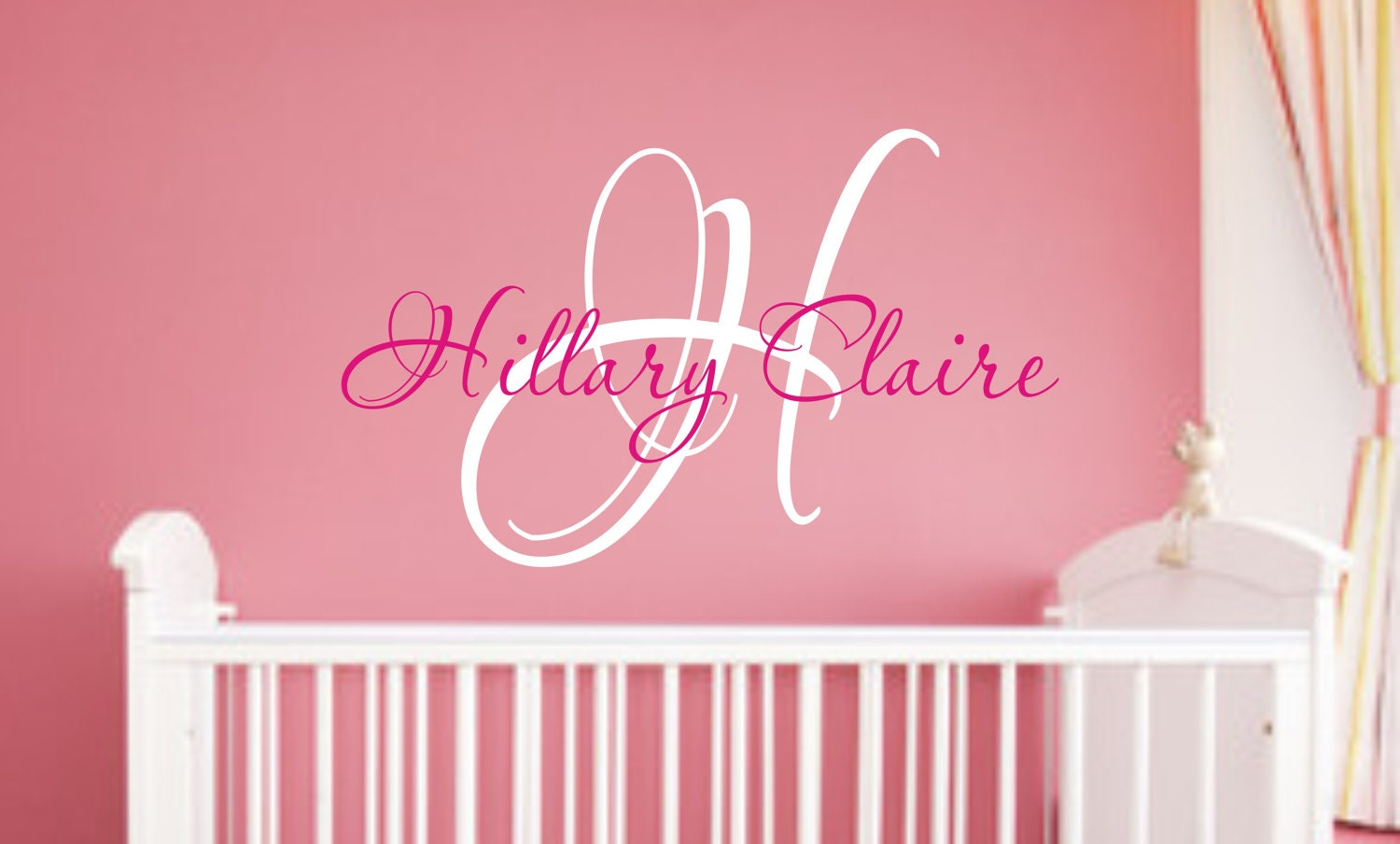 Wall stickers for girl nursery for Baby girl nursery mural