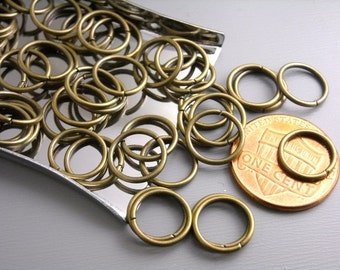 JUMPRING-AB-10MM - 10mm Antique Bronze Open Jump Rings - 21 gauge - 50 pcs