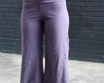 Surya Leela Women's Hemp Flair-leg Pants