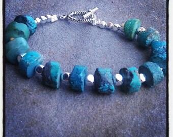 Genuine Gemstone Beaded Bracelet