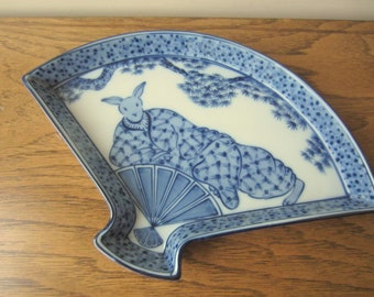 Lin Dynasty blue and white porcelain tray.