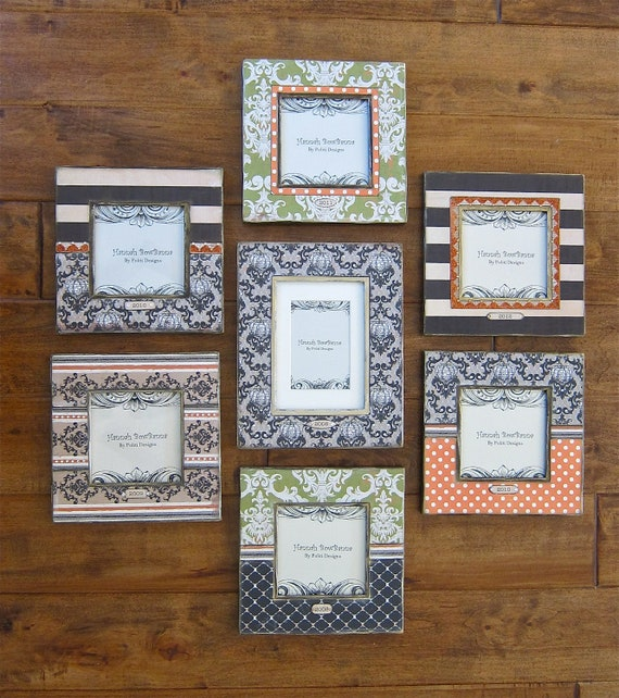 RESERVED for Casey: (4) Fall/Pumpkin Photo Frames