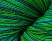 Welsh Green Dragon Self Striping Sock Yarn