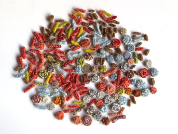 """35 g plant dyed felt beads """"Kaleidoscope"""", organic pure new wool, natural dyes, animal friendly, eco friendly, cruelty free, handmade"""
