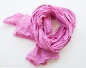 SEA PINK - cotton scarf. Oversized, lightweight wrap, shawl. Fashion, women accessories.