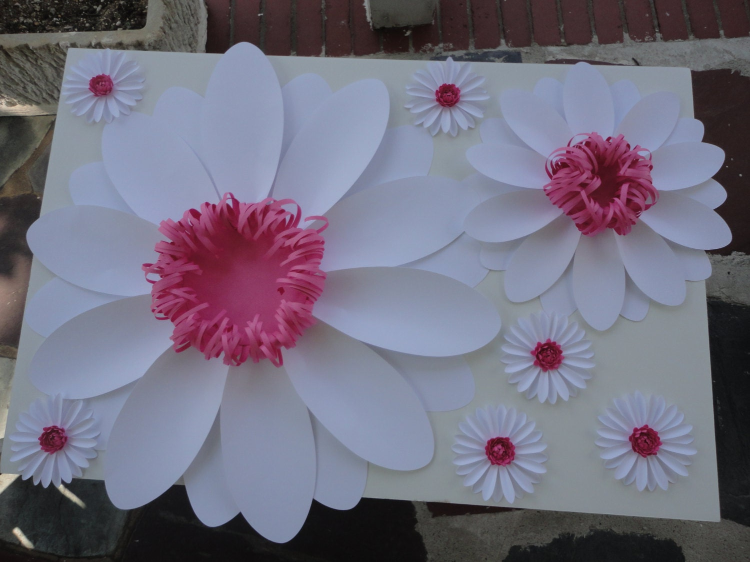 Large Paper Daisy Extra Large Paper Flower Photo Prop Backdrop