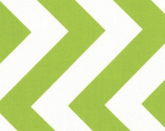SALE - Half Moon Modern by Moda - Chevron in Lime - Cut Options Available