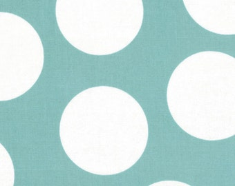 SALE - Half Moon Modern by Moda - Large Dot in Aqua - Cut Options Available