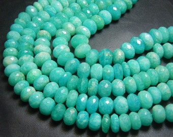 Amazonite  Rondelle Faceted Beads Size 7 TO 8MM Approx8 Inches Top Quality   Wholesale Price