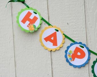 Bug Party Happy Birthday Banner