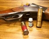 nitroglycerin pill case from shotgun shells