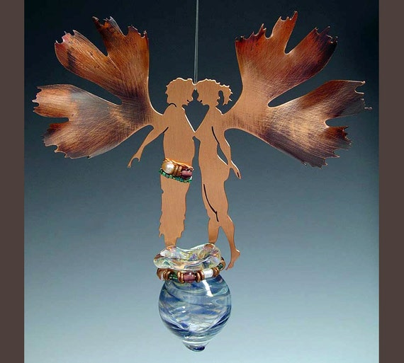 Potion Bottle - Gingko Couple - Your choice of color