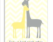 Items Similar To Giraffe Children S Wall Art With Quote
