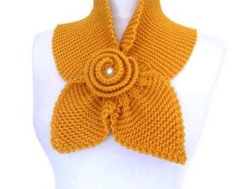 yellow mustard , neckwarmer,shawl,scarf,knitting,Holiday Accessories,Christmas,Halloween,gift