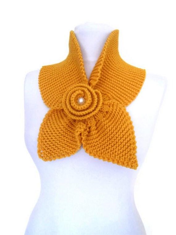 خردل زرد، neckwarmer، شال، روسری، بافندگی، لوازم جانبی تعطیلات، کریسمس، هالووین، هدیه