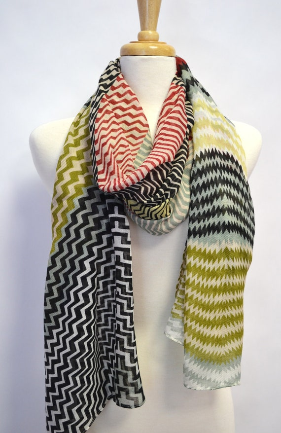 Missoni Lover on a Budget Scarf Shawl Wrap Chevron ZigZag