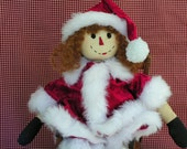 Christmas Rag Doll Millicent Santas Helper