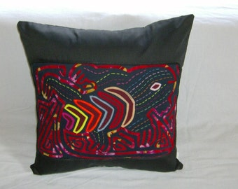 18 x 18 Black embellished pillow cover 216