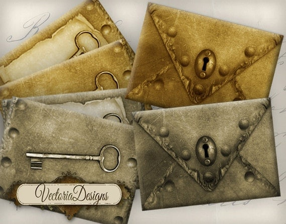 Steampunk Envelopes Printable