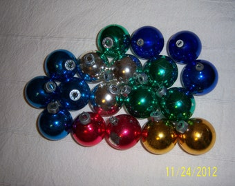 1950s Assortment Of Glass Christmas Tree Ball Ornaments Lot Of 18 Made In USA, Japan