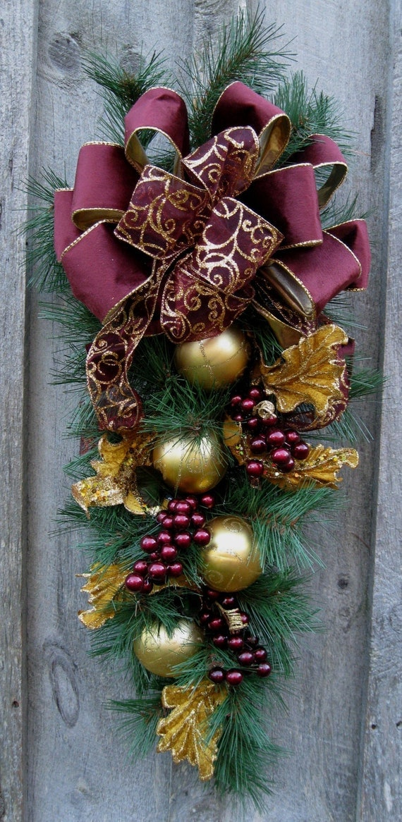 Christmas swag holiday wreath elegant christmas d cor for Christmas swags and garlands to make