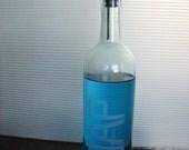 Repurposed Wine Bottle - engraved SOAP dispenser