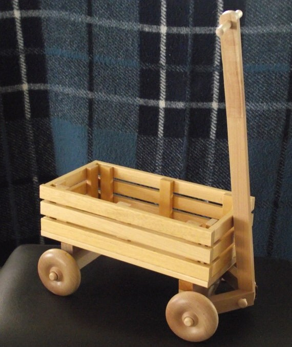Children's Eco Friendly Toy Wooden Wagon With Wheels For