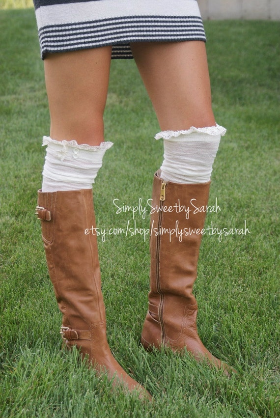 Lace Trim Boot Socks Boot Socks With Lace Trim