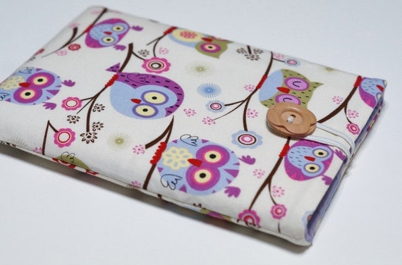 Nexus 7 Case, Kindle Fire Cover, Nexus 7 Cover, Kindle Keyboard, Blackberry Playbook, Kobo Vox Cover, Kindle Fire Case - Happy Owls