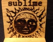 Sublime Coasters, Branded - Solid Pine Wood
