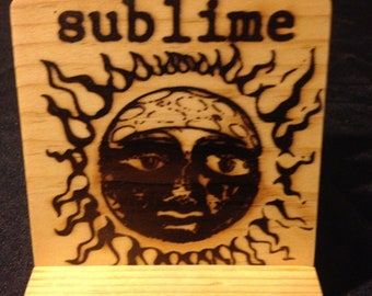 Sublime Coasters, Burned Image -If Desired Mix and Match 4 different designs       See Gomez Carvings Shop and add a note