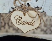 """Rustic Wedding """"Cards"""" Sign  for Your Rustic, Country, Shabby Chic Wedding- or for birthdays, anniversaries, or graduation. Ready to Ship."""