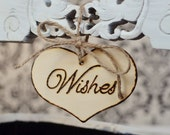 "Rustic Wedding ""Wishes"" Sign  for Your Rustic, Country, Shabby Chic Wedding- or for birthdays, anniversaries, or graduation. Ready to Ship."