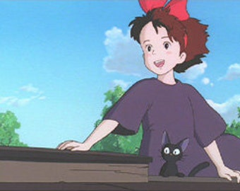 Kiki's Delivery Service Custom Made Cosplay- Child's  Size 5/6 7/8